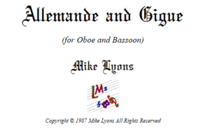 Oboe and Bassoon Duet – Allemande and Gigue