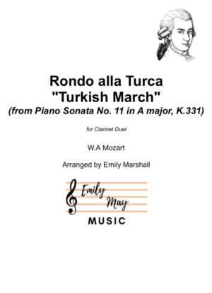 "Rondo alla Turca (""Turkish March"") for Clarinet Duet"