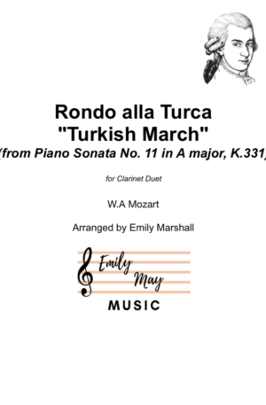 "Rondo alla Turca (""Turkish March"") for Clarinet Duet"