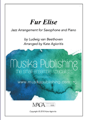 Fur Elise – Jazz Arrangement for Bb or Eb Saxophone and Piano
