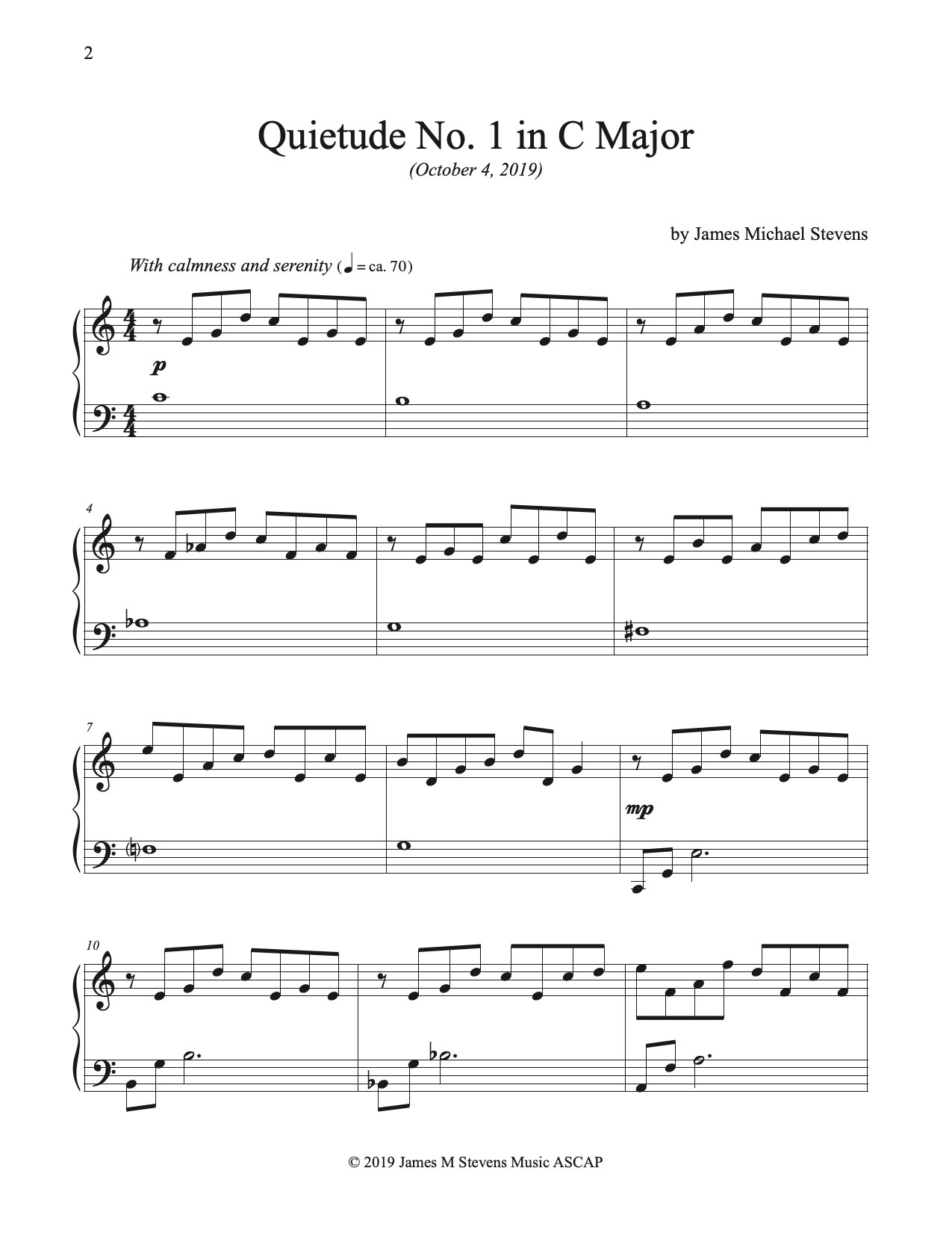 quietudes for piano - sheet music marketplace  sheet music marketplace