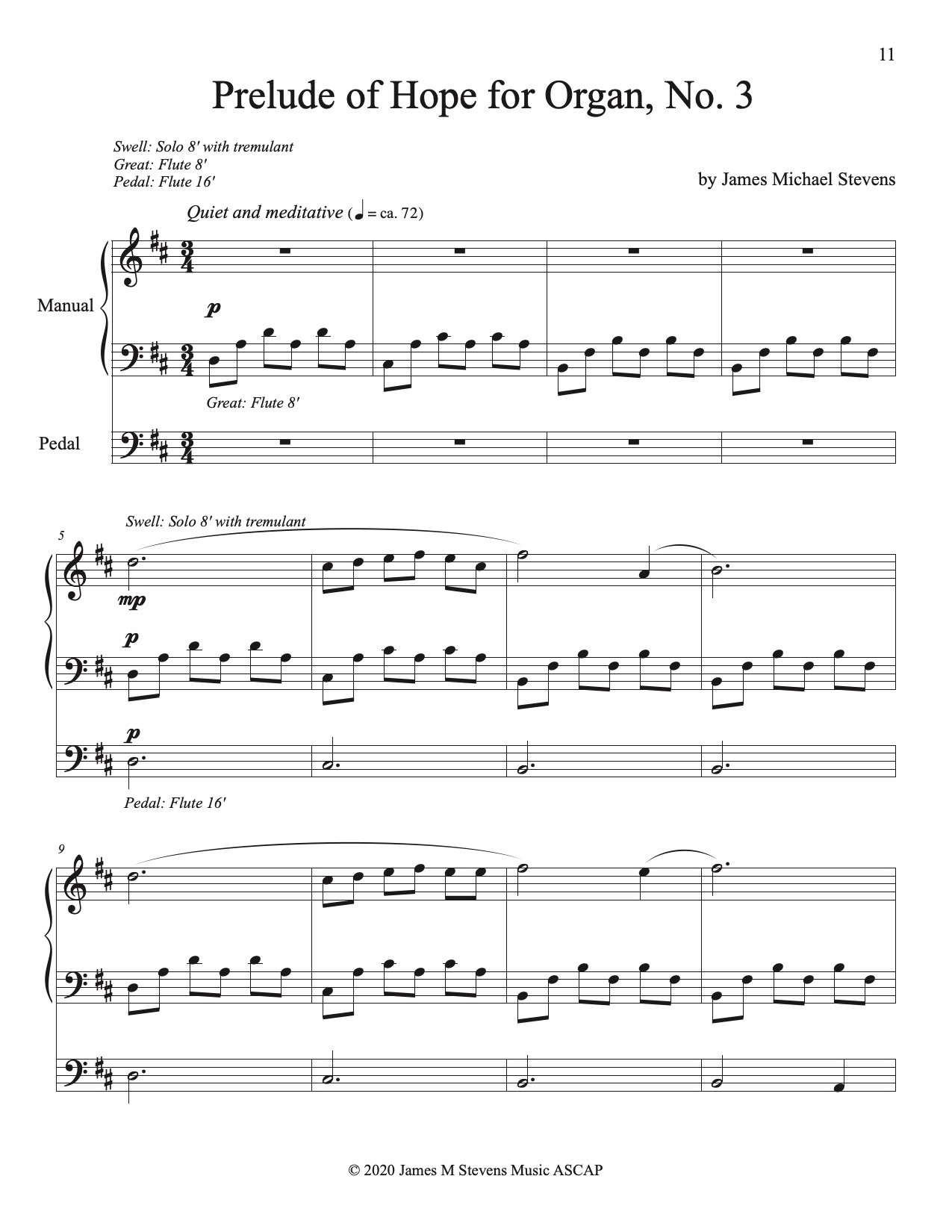 Preludes of Hope for Organ, Nos. 1-5