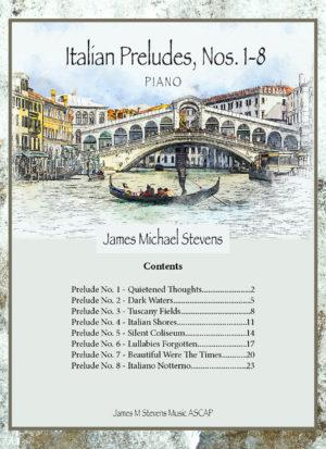 Italian Preludes, Nos. 1-8 – Piano Book