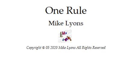 one rule