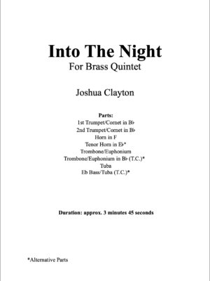Into The Night – Brass Quintet