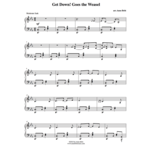 """Get Down! Goes the Weasel – Advanced Intermediate Piano Solo Remix of """"Pop! Goes the Weasel"""""""