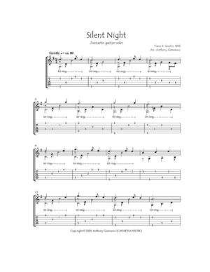 SILENT NIGHT – acoustic guitar solo