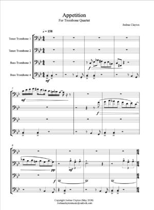 Appetition – Trombone Quartet