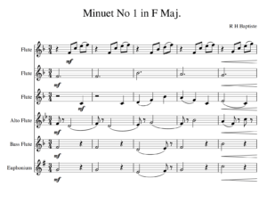 Minuet No 1 in F Maj