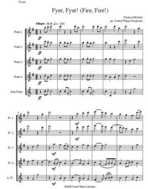 Fyer, Fyer! (Fire, Fire!) for 4 flutes and alto flute