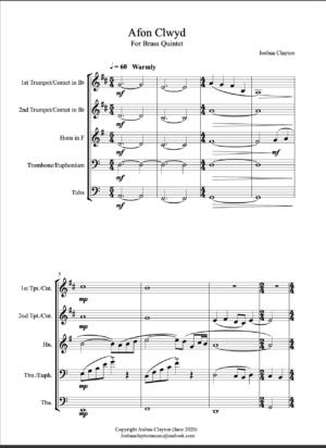 Afon Clwyd – Brass Quintet