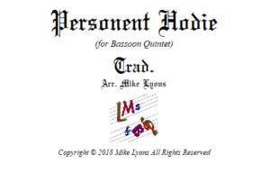 Bassoon Quintet – Personent Hodie