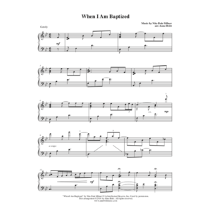 When I Am Baptized – Intermediate Piano Solo