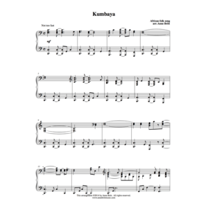 Kumbaya – Advanced Intermediate Piano Solo