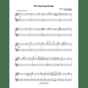 The Morning Breaks – Intermediate Piano Solo