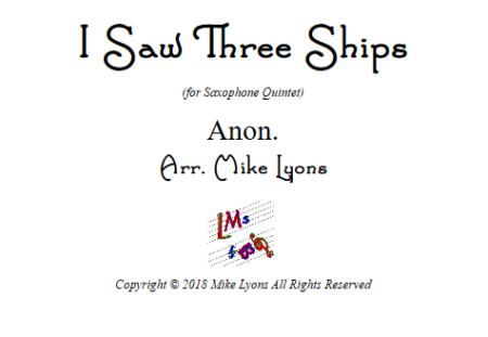 i saw 3 ships