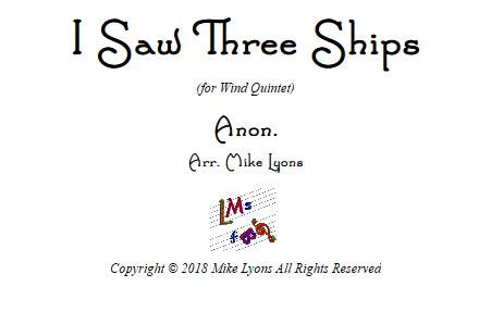 i saw 3 ships WW