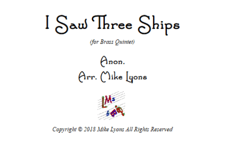 i saw 3 ships Br