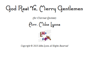 God Rest Ye, Merry Gentlemen – Clarinet Quintet