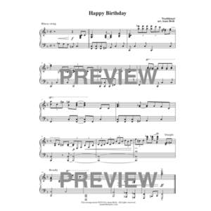 Happy Birthday – intermediate piano solo