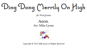 Ding Dong Merrily on High – Wind Quintet
