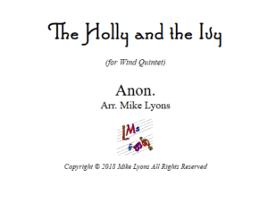 The Holly and the Ivy – Wind Quintet