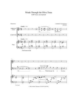 WINDS THROUGH THE OLIVE TREES – SAB choir, piano