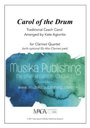 Carol of the Drum – Clarinet Quartet