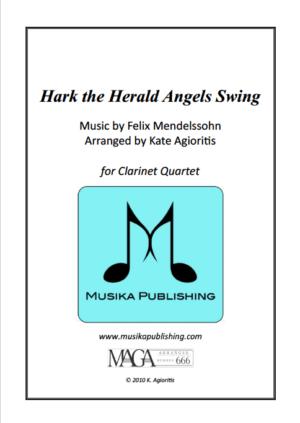 Hark the Herald Angels SWING! – for Clarinet Quartet