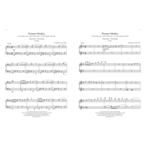 Pioneer Medley – Intermediate Piano Duet