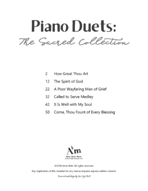 Piano Duets: The Sacred Collection