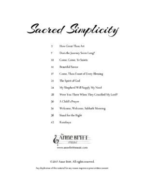 Sacred Simplicity songbook – early intermediate piano solos