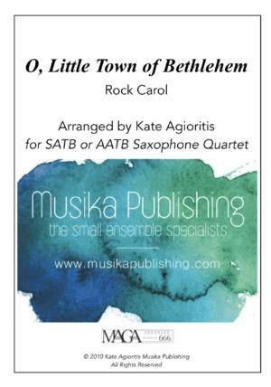 O Little Town of Bethlehem – Rock Carol for Saxophone Quartet