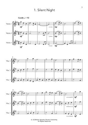 Carols for Three – 15 Carols for Violin Trio