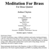 Meditation for brass title screen