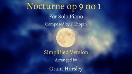 Nocturne op 9 no 1