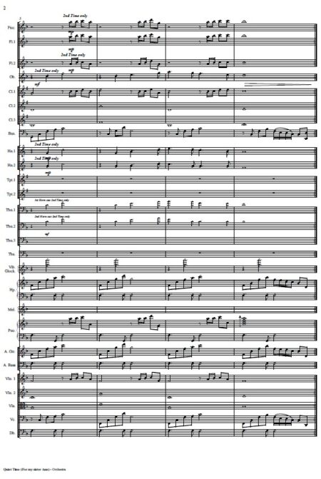 163 Quiet Time Small Orchestra SAMPLE page 02