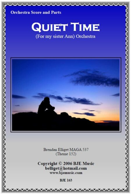163 Quiet Time Orchestra Score and Parts