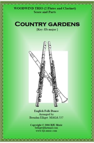 Country Gardens – Woodwind Trio (2 Flutes and Clarinet)
