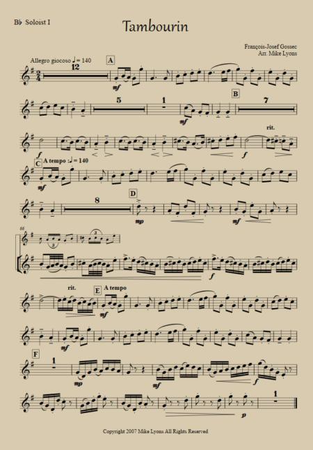 tambourin Solo 1
