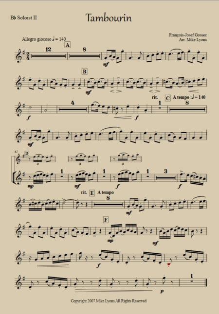 tambourin Solo 2