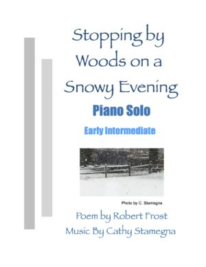 Stopping by Woods on a Snowy Evening (Early Intermediate Piano Solo)