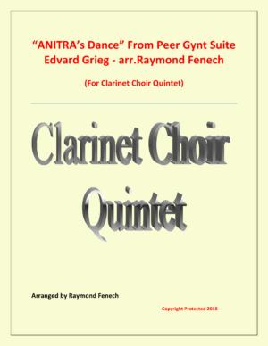 Anitra's Dance – Edvard Grieg – Clarinet Choir Quintet