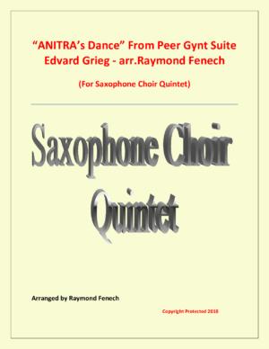 Anitra's Dance – Edvard Grieg – Saxophone Choir Quintet