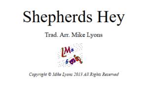 Brass Band – Shepherds Hey
