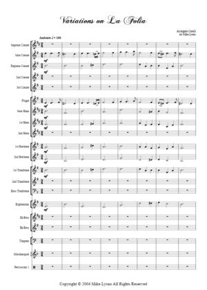 "Brass Band – Variations on ""La Folia"" (Corelli)"