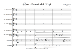 Clarinet Choir – Lamento della Ninfa