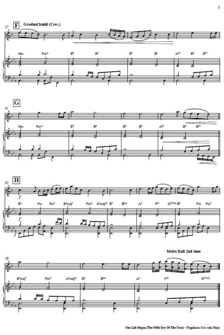 244 Our Life Began Flugelhorn Solo and Piano SAMPLE page 03
