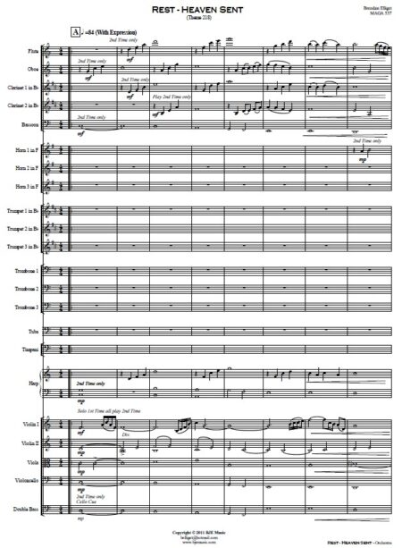 108 Rest Heaven sent Small Orchestra SAMPLE page 01