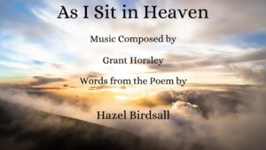 """""""As I sit In Heaven"""" Piano and solo voice"""